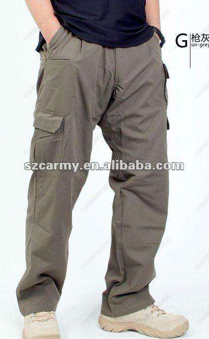 Man's Water Proof 6 Pockets Gun Grey Rip Stop Tactical Pants