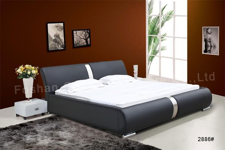 New arrival bedroom latest wooden bed designs h2889 buy for Double bed new design