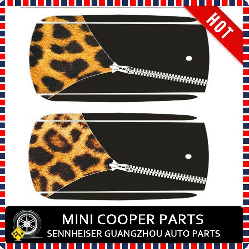 Car Roof Sticker Union Jack Zipper Style For Mini Cooper