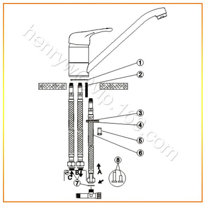 Hoge kwaliteit messing lage druk kraan polish en chroom for Tuinslang aansluiten op kraan zonder schroefdraad