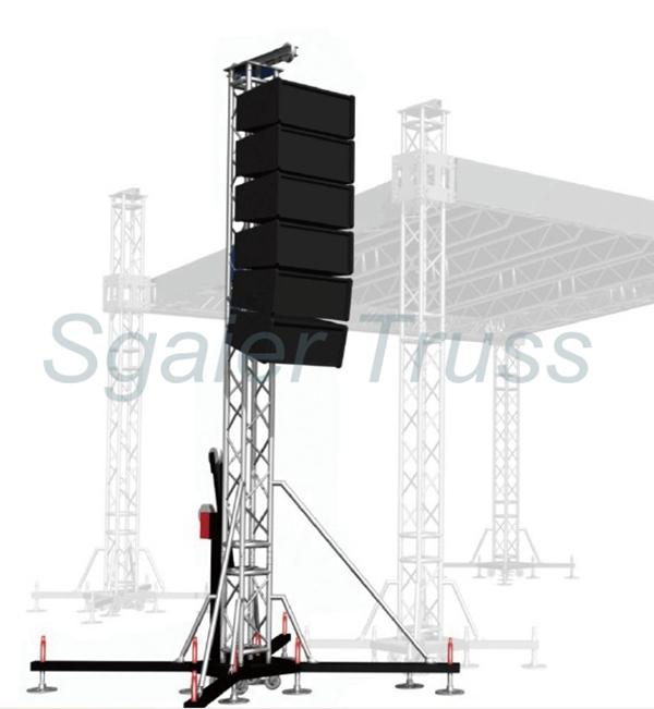 Speaker hanging truss aluminum concert truss used speaker for Cheap truss systems