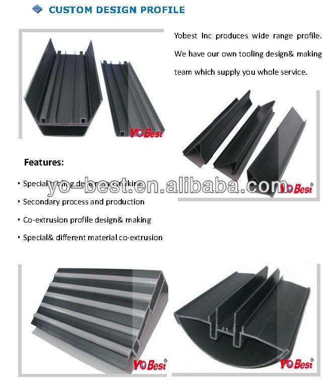 Plastic extrusion profile rectangular tube manufacturer