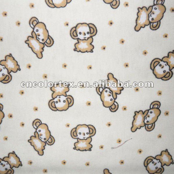 """1 m Ivoire cheetah print 100/% coton brossé tissu large 45/"""" Doux Chaud Flanelle"""