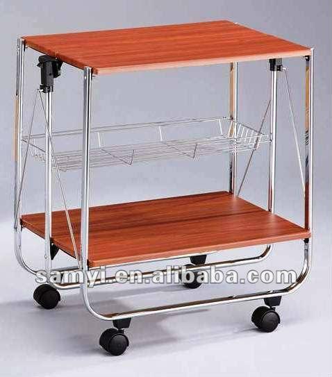 Pieghevole Di Legno Da Cucina Carrello - Buy Product on Alibaba.com