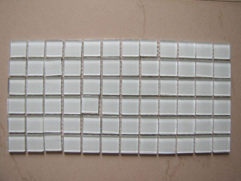 Ct22 bianco piastrelle in vetro mosaico di cristallo cucina parete