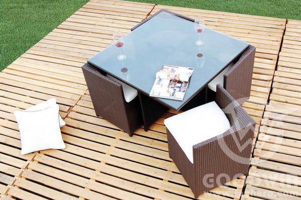 Gw3131 세트 B 정원 능선 야외 가구 식당 세트 - Buy Product on Alibaba.com