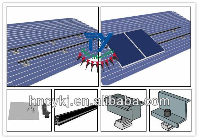 Asphalt Shingle Rooftop Solar Panel Roof Mount For Solar