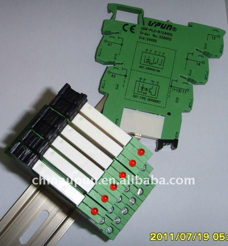 Upun Shanghai Plc Relay Coupling Terminal Block Solid
