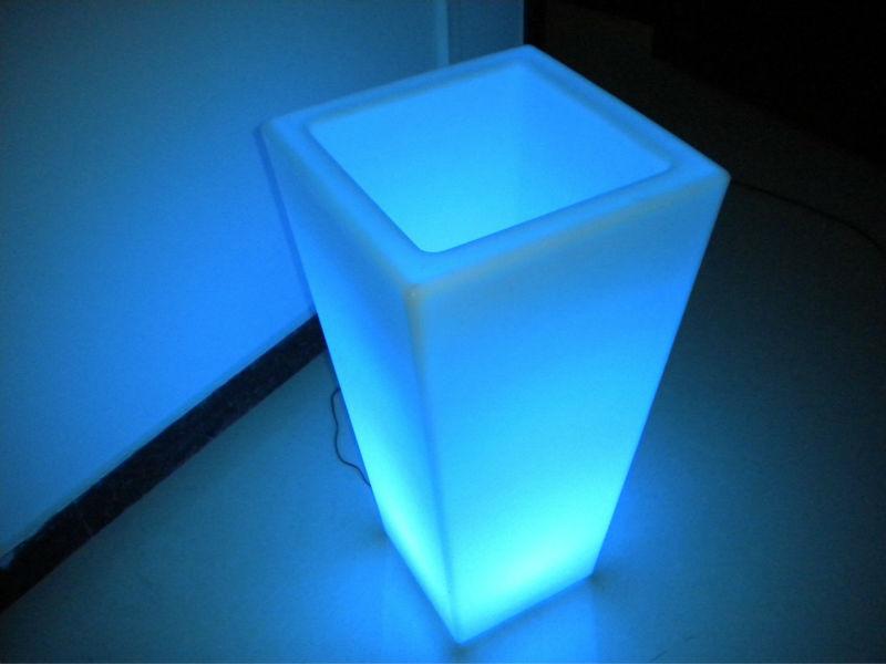 Bloempot Met Licht : 45*h70*29.5cmled bloempot licht vierkante bloempot oplaadbare