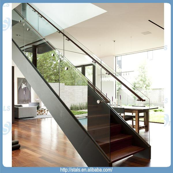 Recta moderna escalera de cristal barandilla escalera para interior buy recta escalera - Barandilla escalera interior ...