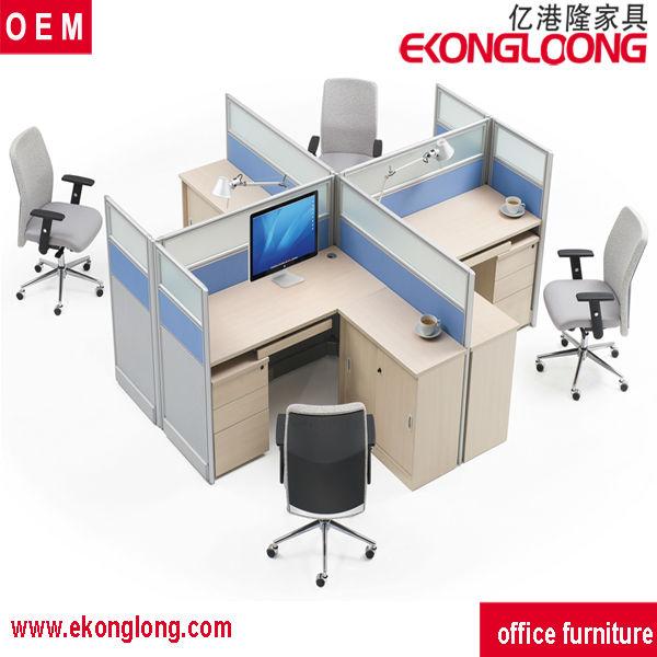 modern 4 person office computer workstation deskoffice partition workstation