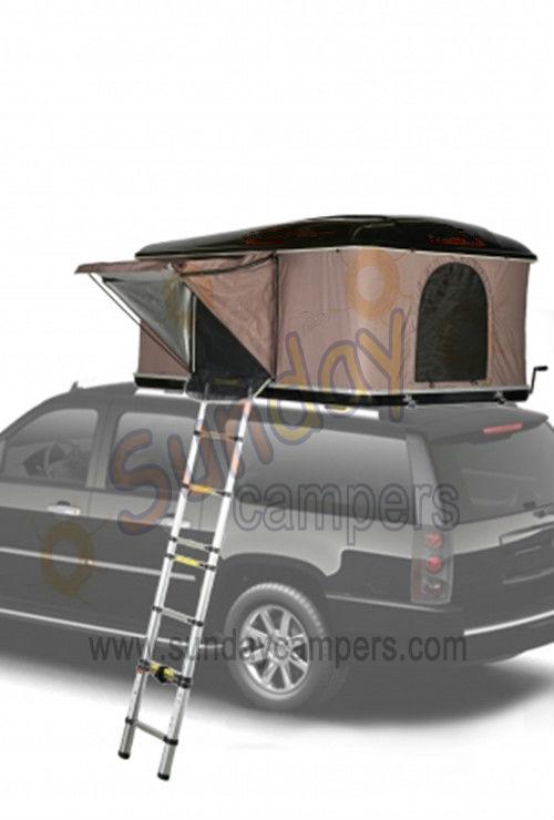4 Person Poly Cotton Fabric Fiberglass Car Roof Top Tent