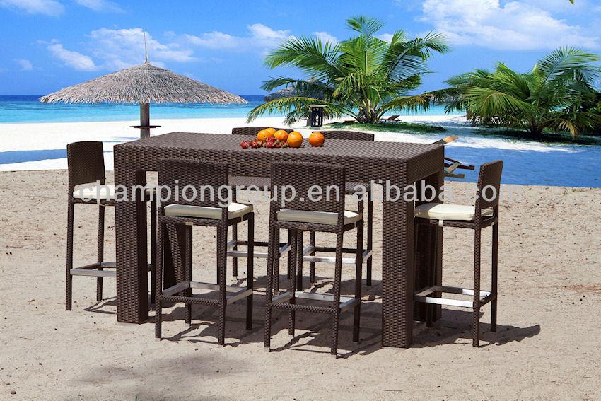 Rotan hoge tafel met 6 stoelen voor terras meubilair buy product on - Keukentafel corian ...