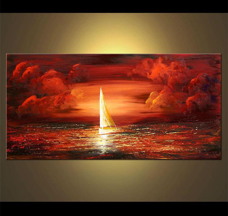 Pop Sonnenuntergang Handgedruckt Ölbilder Großhandel,1.8cm ...