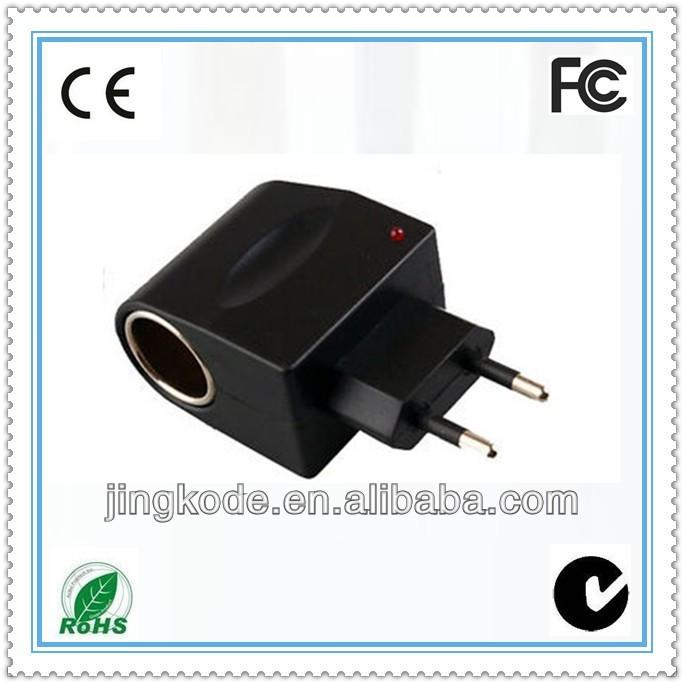 Us Plug Car Charger Adapter 110v 220v Ac To 12v Dc Cigarette Lighter