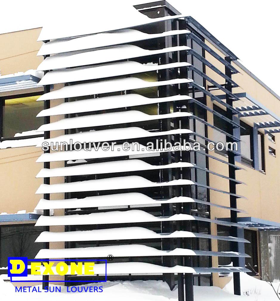 Glass Louver Facade : Building facades glass curtain wall outside shutters