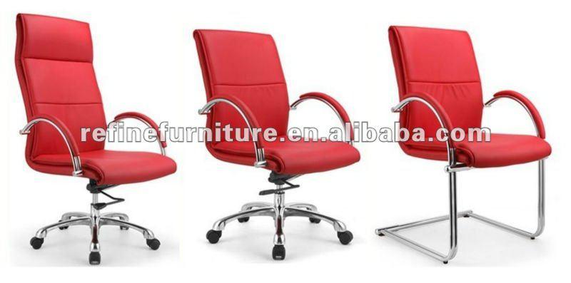 sedia in pelle rossa rf-s028a - buy product on alibaba.com - Sedie Da Ufficio Rosse