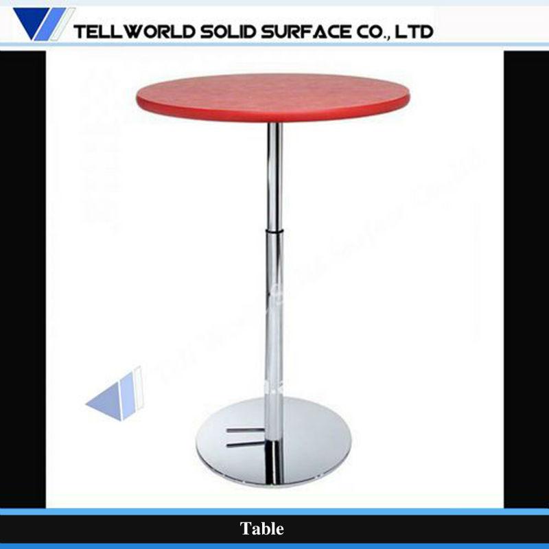 Modern Design Artificial Stone Height Adjustable Round Coffee