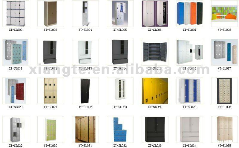 Guangzhou metal wardrobe steel locker manufacturer buy for Different types of wardrobe designs