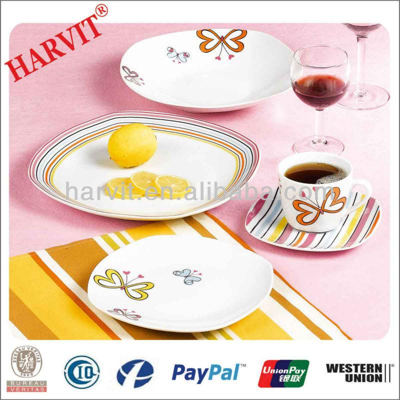 Porcelain Dinner Set/Customized Dinnerware Sets/Square Shape Plates Ceramic/Beautiful Decal Tea  sc 1 st  Alibaba & Porcelain Dinner Set/customized Dinnerware Sets/square Shape Plates ...