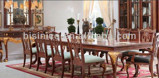 anglais royale style salle manger ensemble antique ensemble de meubles de salle manger