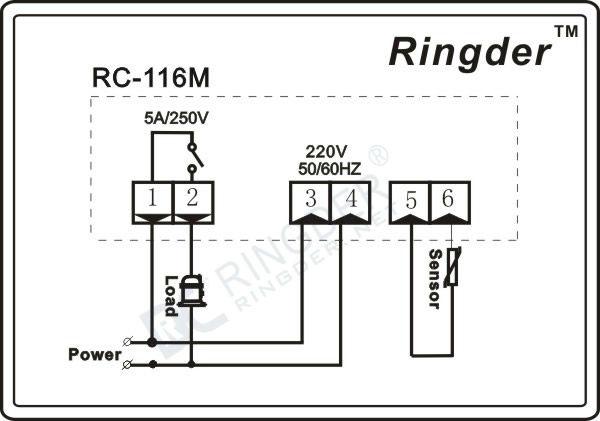 Rc-116m Incubator Thermostat