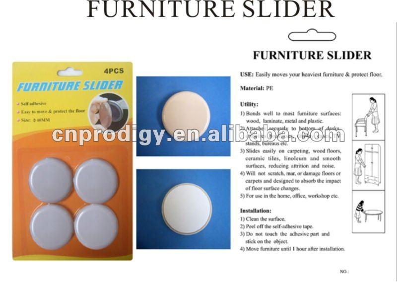 Teflon Pad Chair Leg Protectors/ Furniture Teflon Glides