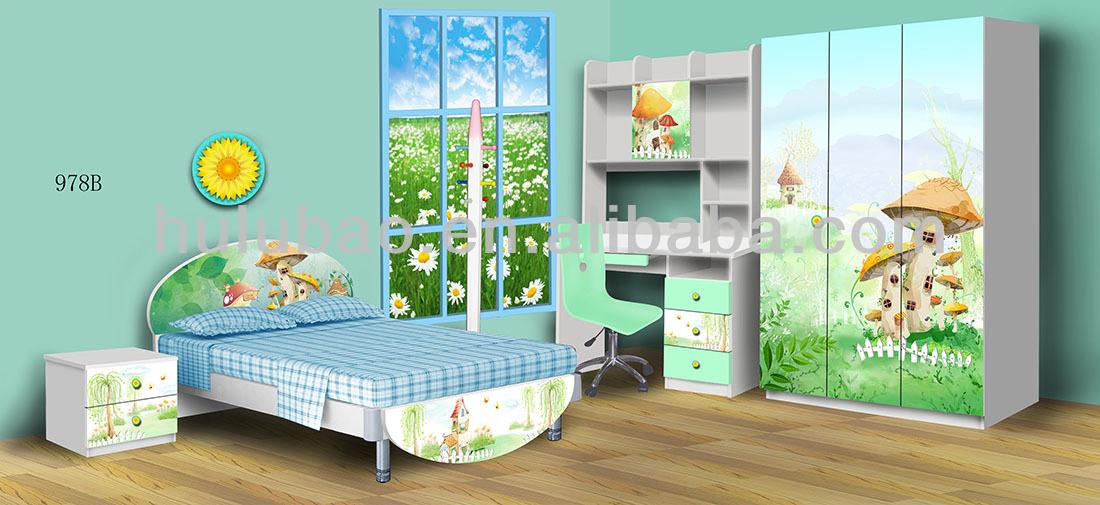 Kids Bedroom Furniture Set Cheap Girls Bed/bedroom Set Of Glossy ...