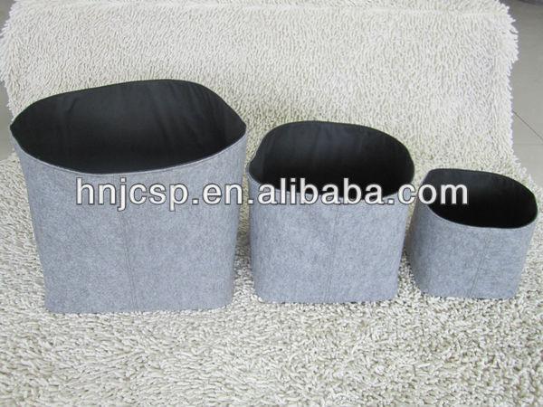 dunkel grauem filz w schekorb faltbar buy product on. Black Bedroom Furniture Sets. Home Design Ideas