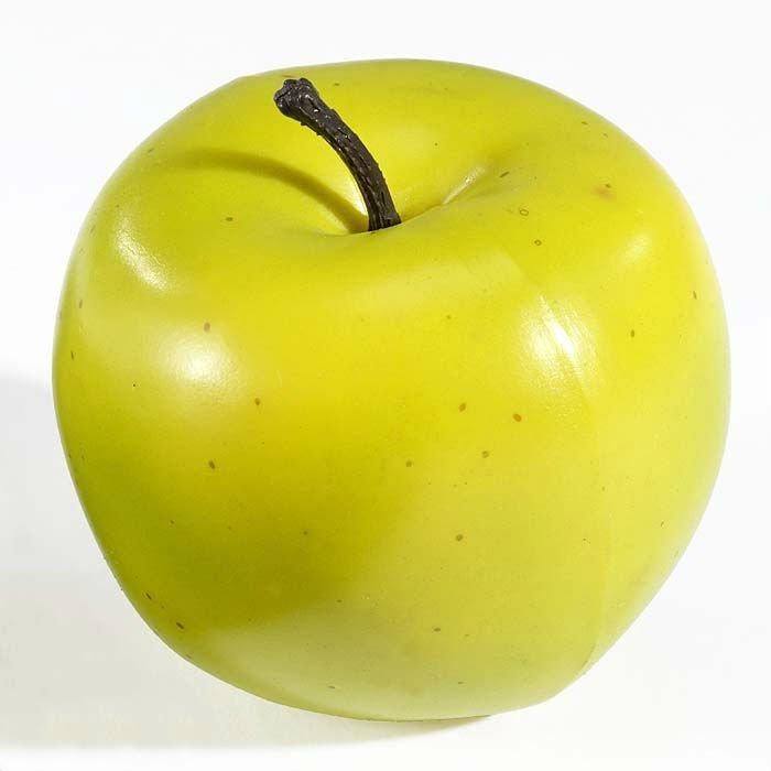 Real Size&weight Foam Artificial Fruit Green Apple
