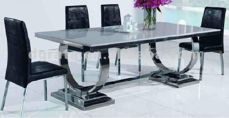Mesas de comedor de vidrio y metal casa dise o for Precios de comedores en vidrio
