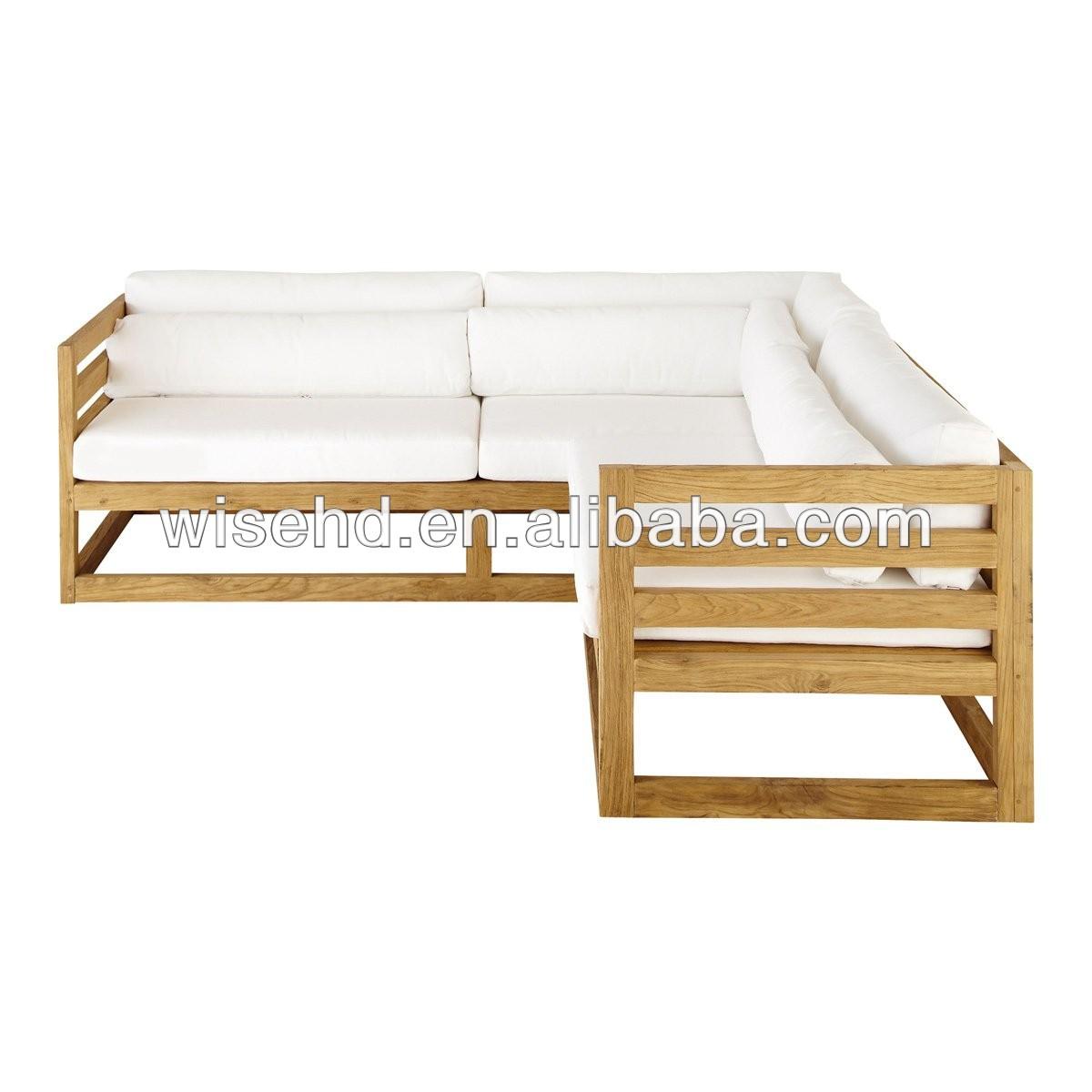 Folding Solid Wood Frame Sofa Bed For Living Room Furniture WJZ-B75