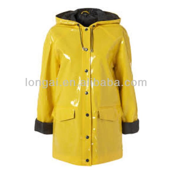 Full Length Fashion Cheap Women Yellow Raincoat - Buy Yellow ...