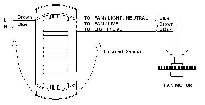 Schema Elettrico Per Ventilatore Da Soffitto : Ventilatore a soffitto e la luce telecomando rettangolare