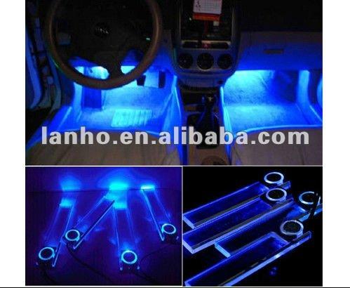 Car Charge 12v 4 Led Interior Decoration Floor Decorative Light Lamp ...
