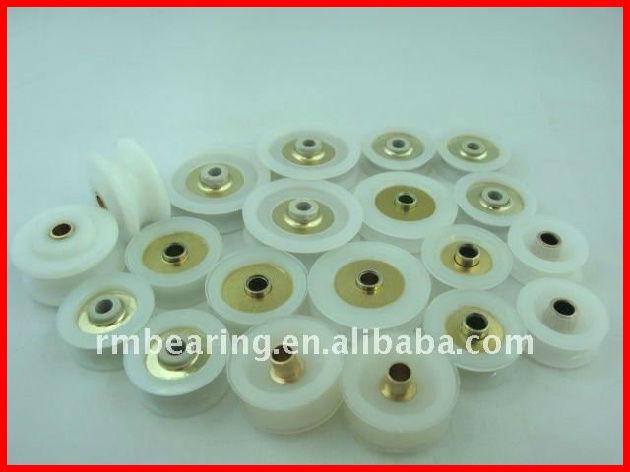 625 Bearing Small Plastic Track Roller Wheels For Sliding