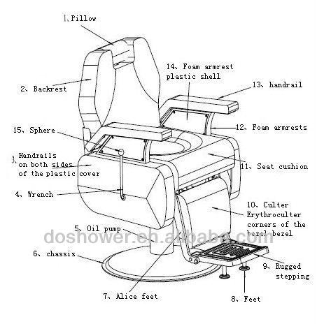 New Design Salon Chair Barber Shop Equipment Modern