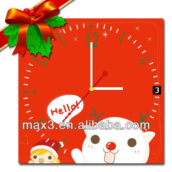 Ndf yellow flower table wall clock top adult christmas - Table gifts for christmas ...
