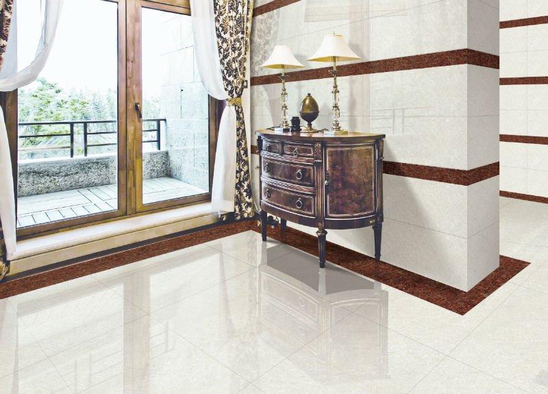 Polished Porcelain Tiles Crystal Double Loading 60x60 Nano Polish APJ108601P Living Room Floor