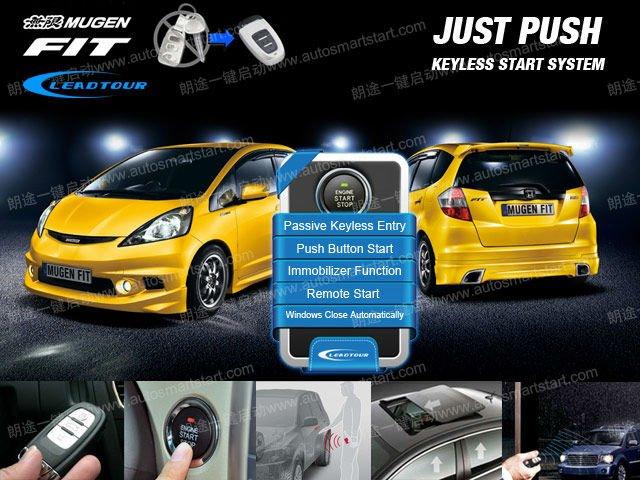 Keyless Entry Smart Push Button Start Engine Rfid Lock Remote ...