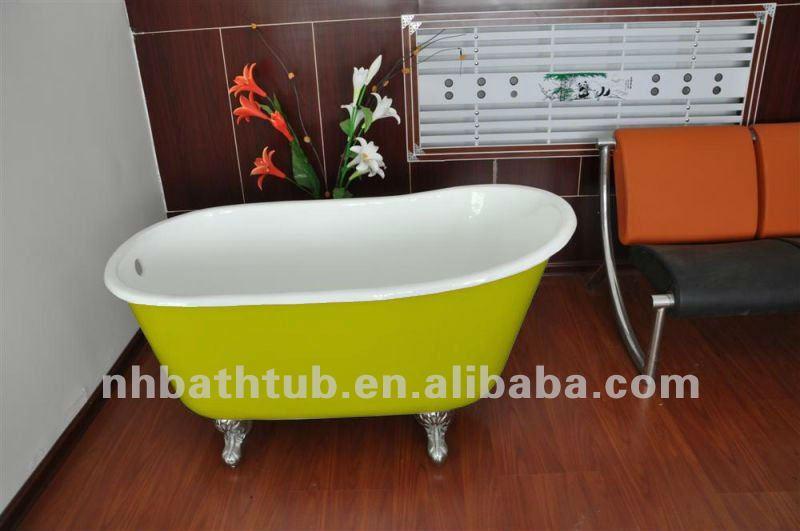 Deep Cast Iron Tub Part - 24: Deep Cast Iron Bath Tub, Claw Foot Baby Bath Tub, Baby Freestanding Bathtub