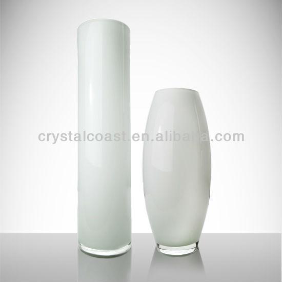 new glass vasetall large cylinder pure white floor standing glass vase wedding