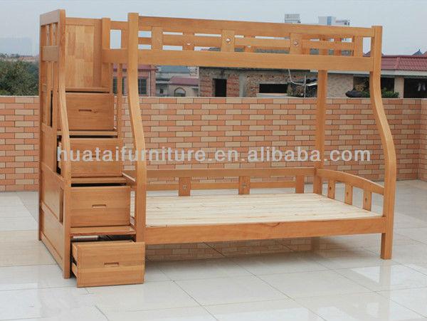 Solid Beech Wood Kids Bunk Bed Simple Mother Children