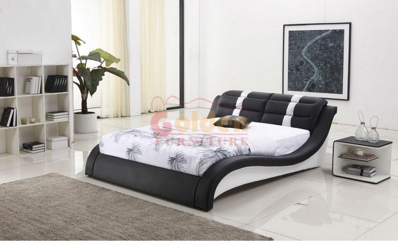 Matrimonio Bed Size : Full size fancy latest design king leather soft bed
