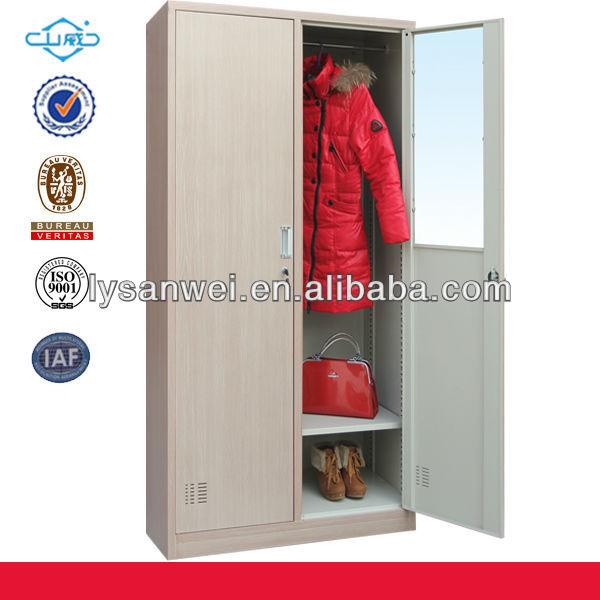 Wood Color Bedroom Almirah Designs Steel Locker - Buy Steel Locker ...