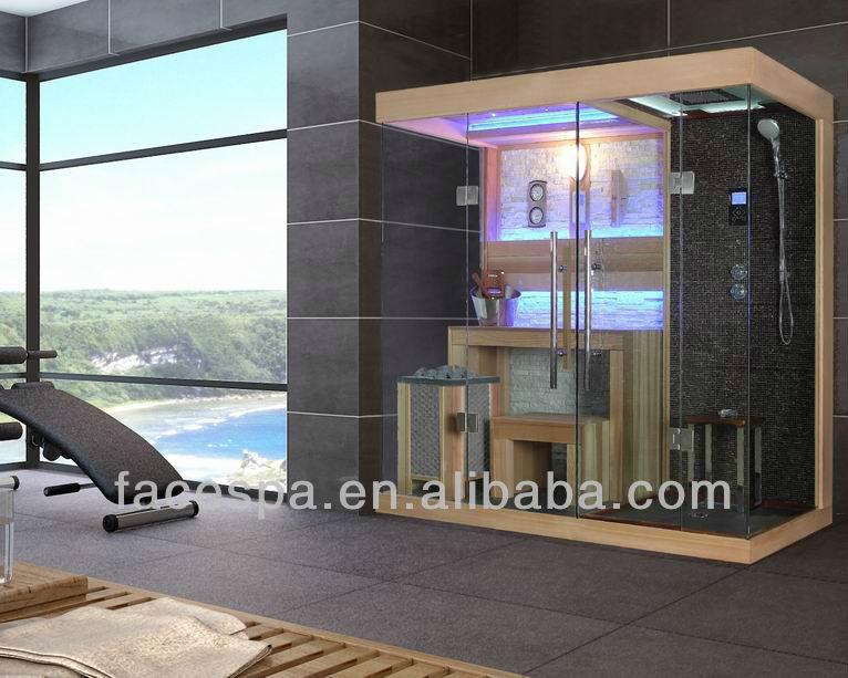 steam shower with finnish sauna for sex bathroom