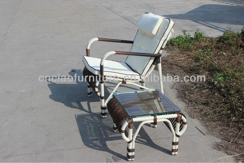 Moderne Terrassenmobel Aluminium Rattan Garten Korbstuhl Mit Tisch