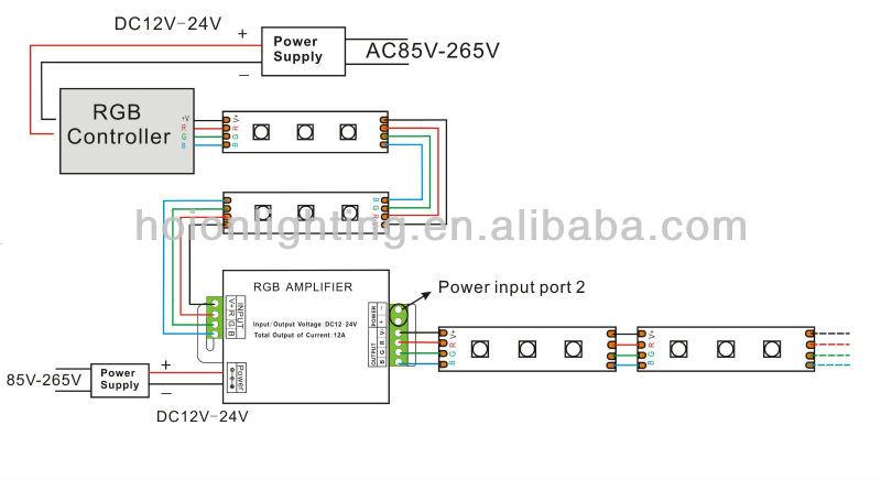 High Quality 5v 12v 24v 12a 144w Rgb Led Strip Amplifier,Led ...