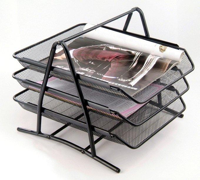 Hot Sell Metal Mesh Desk Organizer Document Tray Document