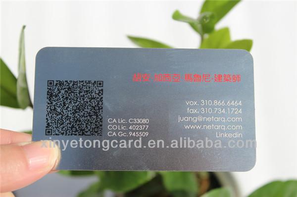 Hot!!! Laser Cut Black Metal Business Cards - Buy Metal Business ...